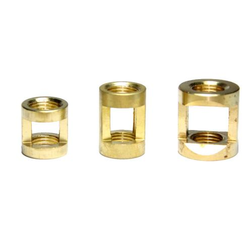 M10 x 1mm Pitch Solid Brass Lighting Hickey Coupler